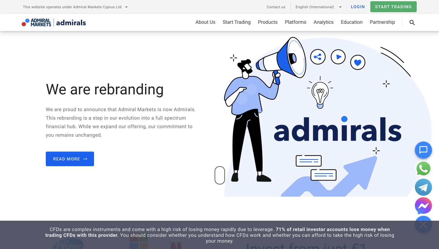 Admirals Home Page