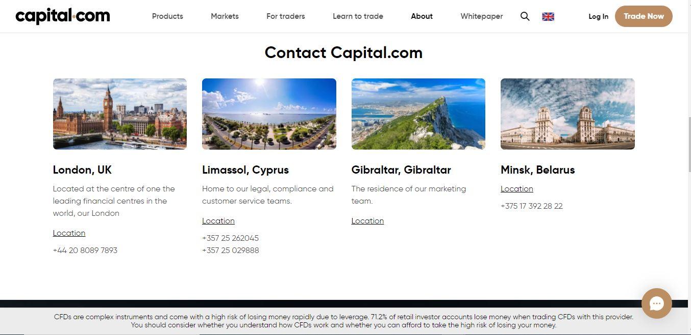 Contact Capital.com
