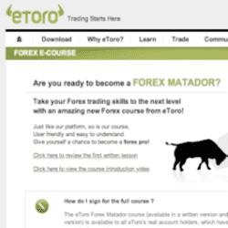eToro Forex Matador