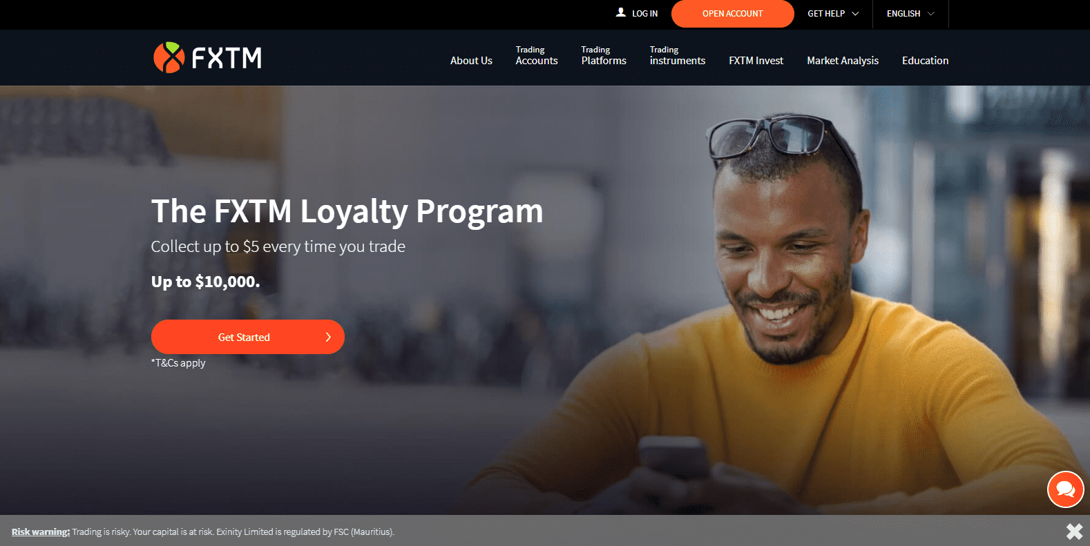 FXTM versus IC Markets FXTM loyalty program