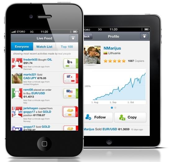 eToro Android Handy App
